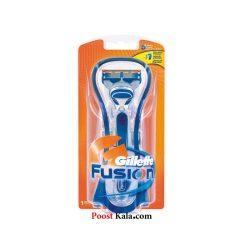 دسته تیغ ژیلت فیوژن با قاب + 1 یدک Gillette fusion
