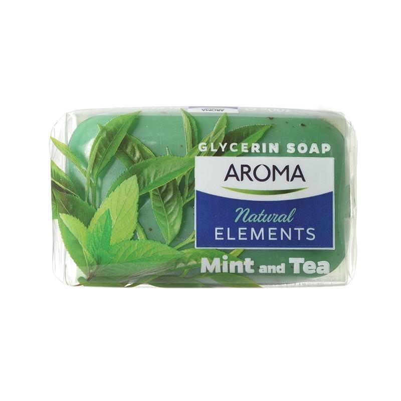 صابون نچرال المنت آروما AROMA با عصاره چای و نعناع