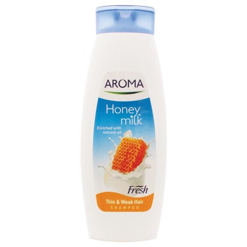 شامپو موهای آسیب دیده آروما Aroma حاوی شیر و عسل