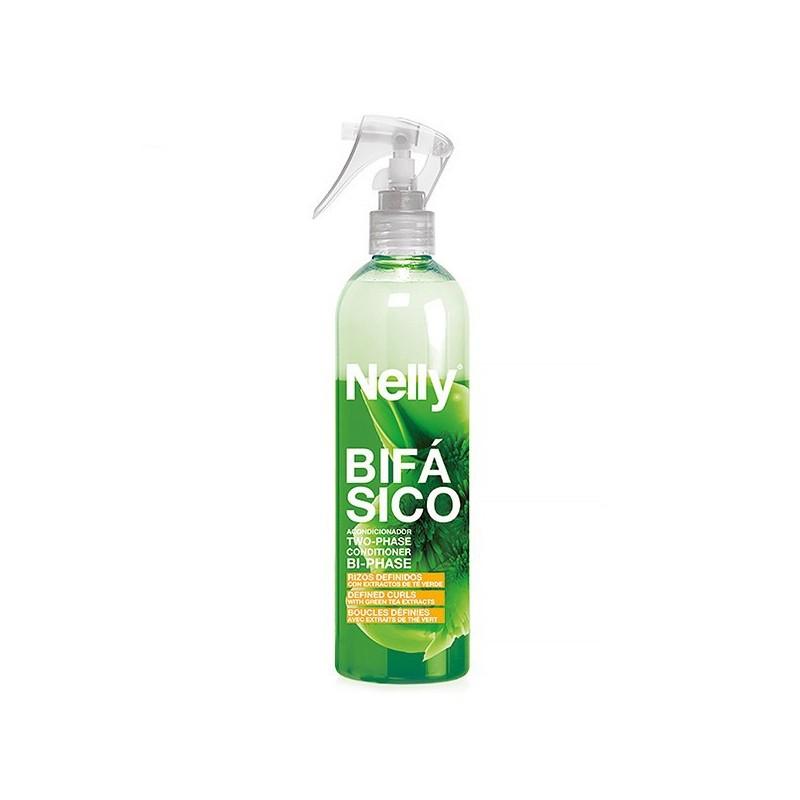 اسپری دوفاز موهای فر و مجعد نلی Nelly مدل چای سبز