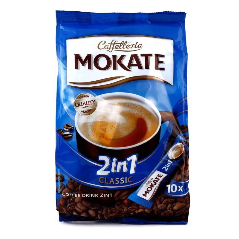 کافی میکس رژیمی 2x1 کلاسیک موکات MOKATE بسته 10 عددی