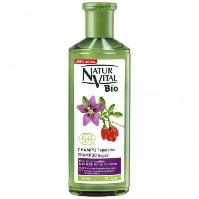 شامپو ترمیم کننده ارگانیک نچرال ویتال Natur Vital با عصاره گوجی و آلوورا