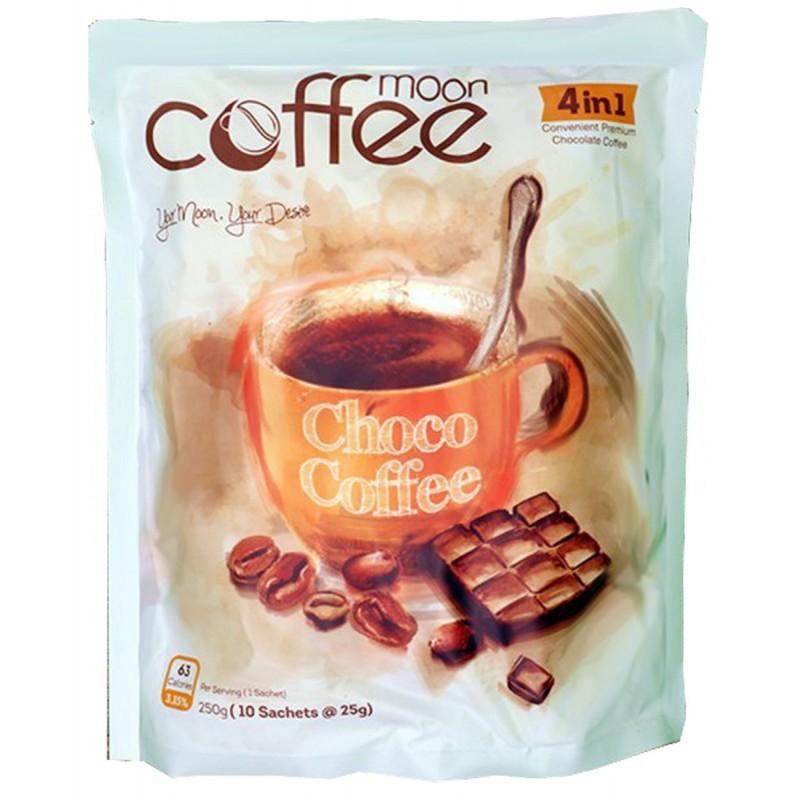 کافی میکس شکلاتی 4x1 کافی مون Coffee Moon بسته 10 عددی