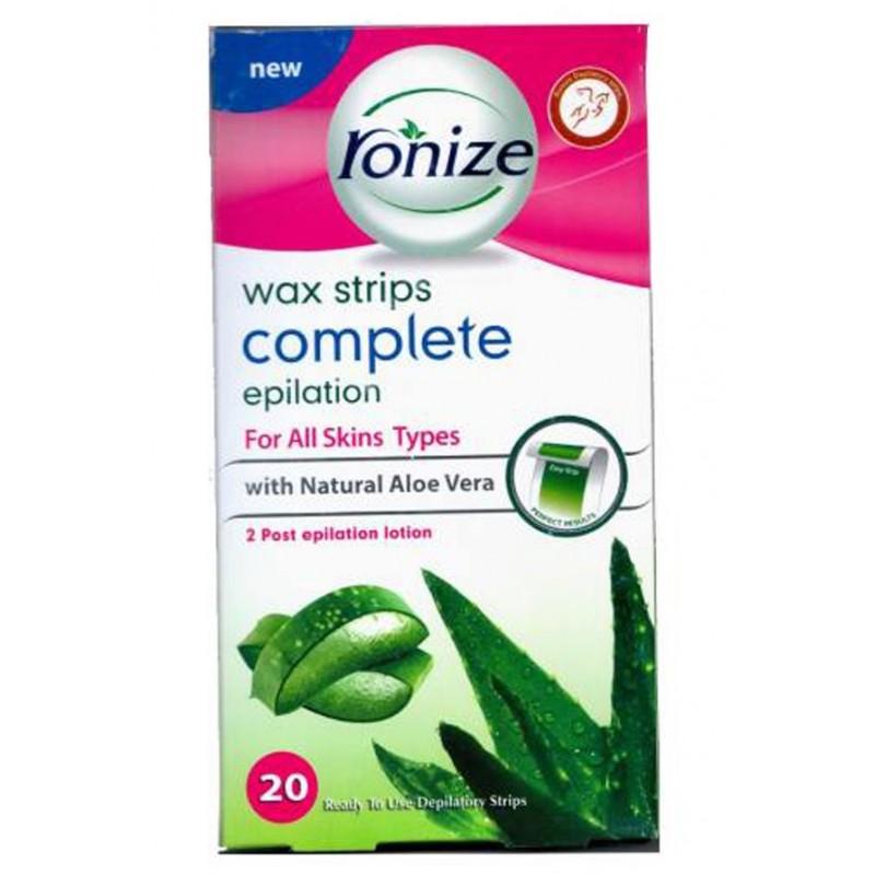 نوار موبر بدن رونیز Ronize حاوی عصاره آلوورا برای انواع پوست بسته 20 عددی