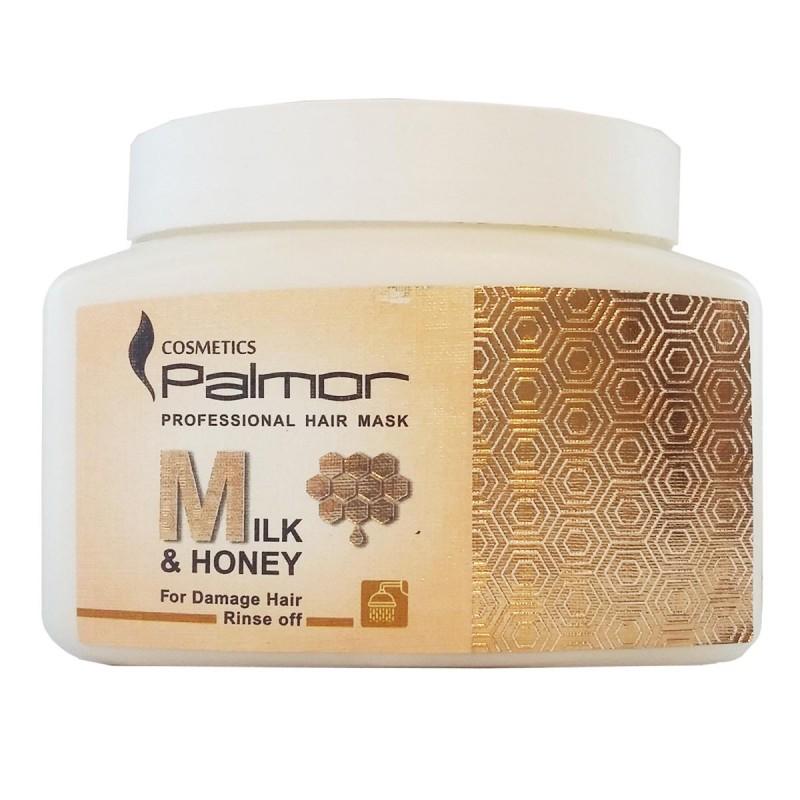 ماسک موهای آسیب دیده پالمور Palmor حاوی شیر و عسل 500 میل