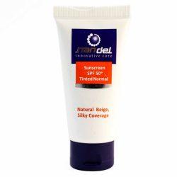 کرم ضد آفتاب رنگی ناندل Nandel بژ طبیعی SPF50 حجم 50 میل